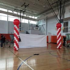 Coca Cola Balloon Columns