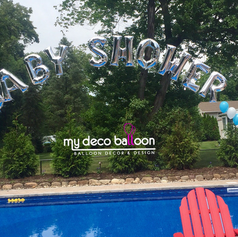 Single Balloon Arch with letters