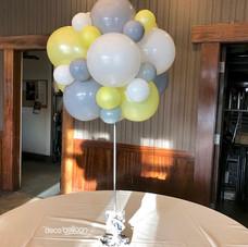 Organic balloon topiary centerpiece