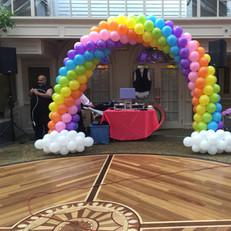 6 colors Rainbow Balloon arch