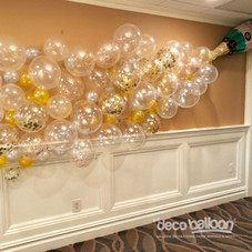 Champagne Bubbles Balloon wall display