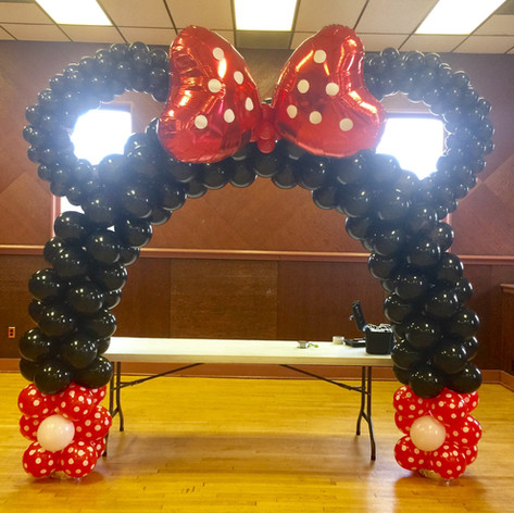 Minnie Balloon Arch