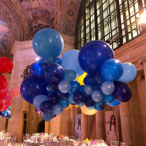 Organic Rainbow Balloon Cloud Centerpiece