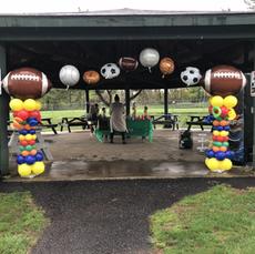 Football Balloon Column