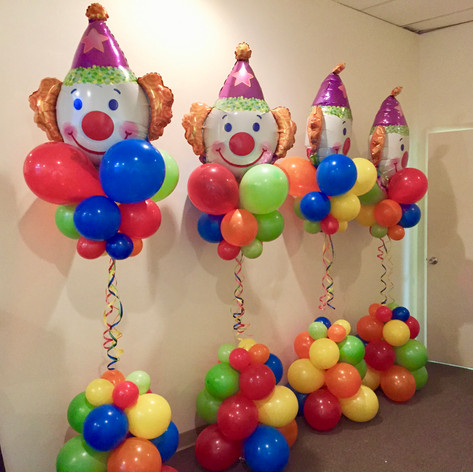Floating Balloon Columns - Carnival Clown
