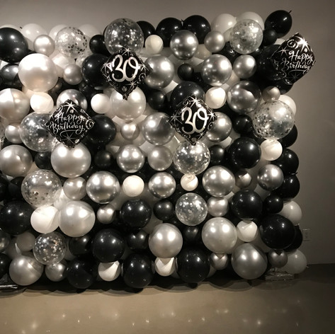 Organic Black and White Balloon Wall