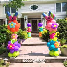 Flowers Balloon Columns