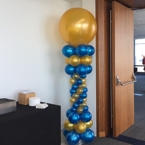 Roman Balloon Column with large topper