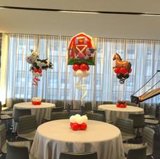 Farmed Themed Balloon Centerpieces