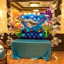 Under the Sea Balloon Wall