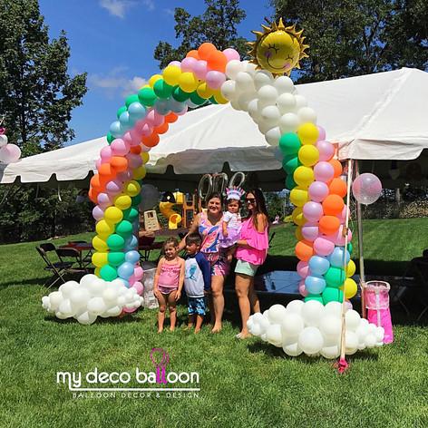 Pastel Colors Rainbow Balloon arch