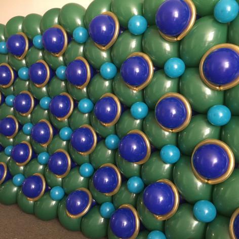 Peacock Balloon Wall