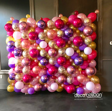 Balloon Wall with custom colors and glitter