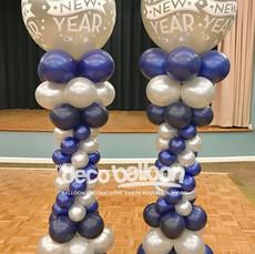New Year's Balloon Columns