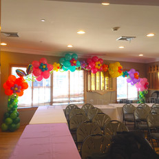 Colorful Flower Balloon Arch