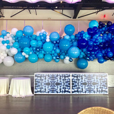 Ombre Blue Wave Balloon Wall