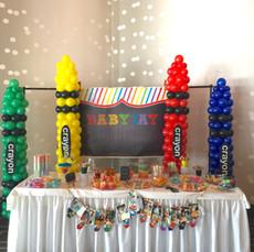 Crayola Balloon Columns