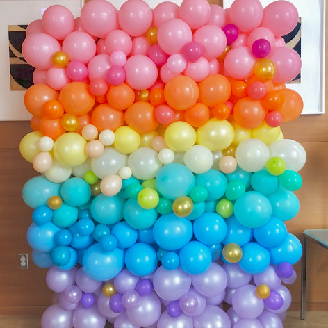 Pastel Colors Organic Balloon Wall
