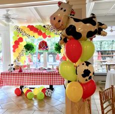 Farm Balloon Centerpiece