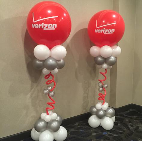 Custom Logo Balloon Columns - Verizon
