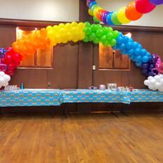 Long Rainbow Balloon Arch