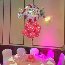 Candy Themed Balloon Centerpiece