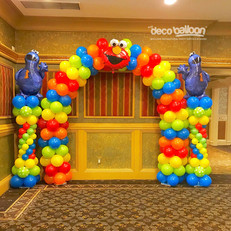 Sesame Stree Balloon Arch