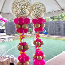 Glitter Balloon Columns