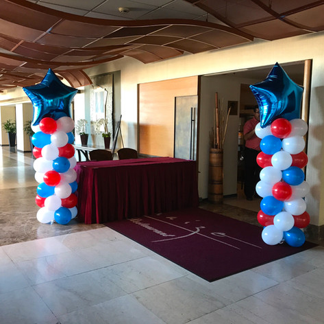 Classic Balloon Column with Star topper
