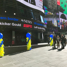 Time Square Balloon Columns