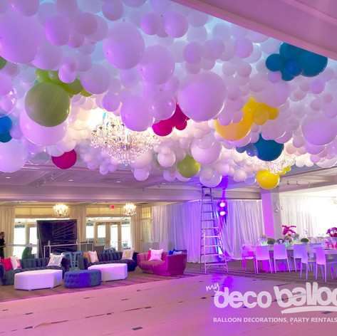 Balloon Ceiling Installation - Bar Mitzvah