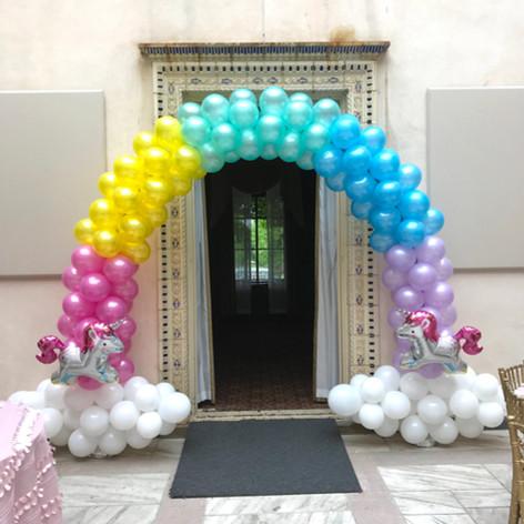 Rainbow Balloon arch