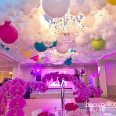 Balloon Ceiling Installation - Dance floor decor