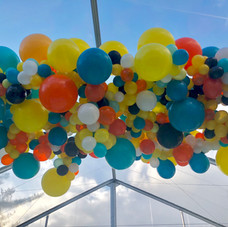 Organic Balloon Cloud over dance floor