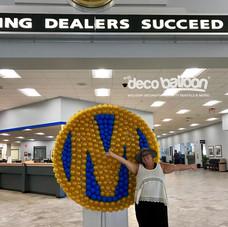 Auto Dealer Logo Balloon Mosaic