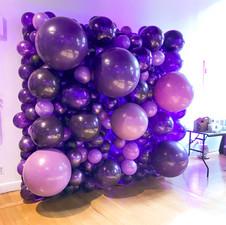 Organic Purple Balloon Wall