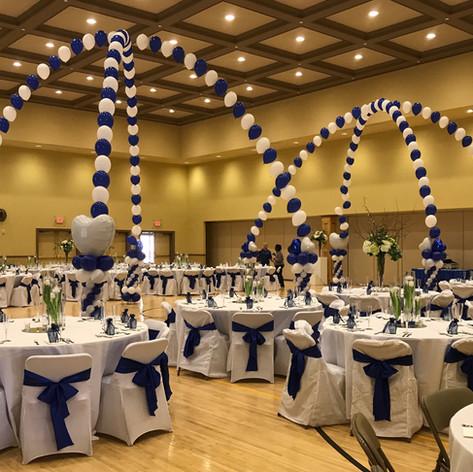Tall Single Balloon Dance floor Canopies