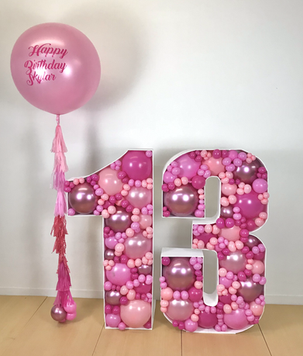 13 Balloon Mosaic in Pinks