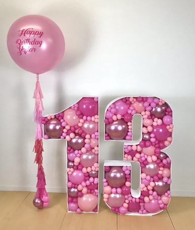 13 Balloon Mosaic in Pinks