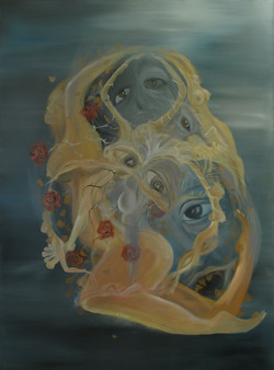 Nymphea, huile sur toile, 120 x 90 cm