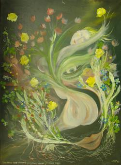 Dame printemps, huile sur toile, 110 x 80, 2004