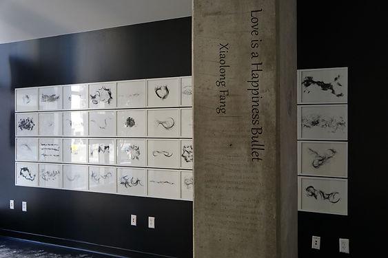"""现场展览图 展览:2015年 方小龙美国个展""""爱是一颗幸福的子弹"""".JPG"""