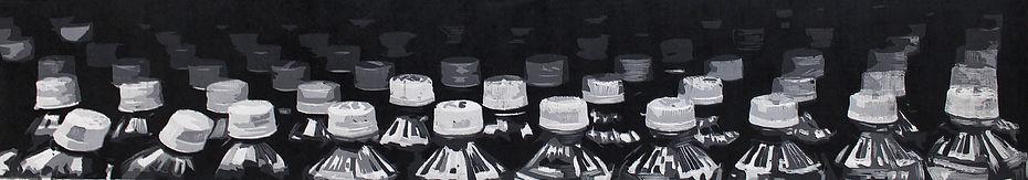 16,方小龙·版画·绝版套色木刻·《唤·醒》 组图3·    14cm×90cm