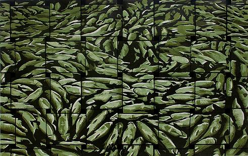13,方小龙·版画·绝版套色木刻·《无奈的河床》·60cm×90cm.jpg