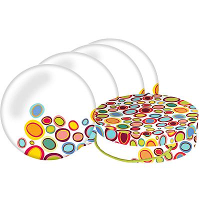 Pebbles Porcelain Plates (set of 4)