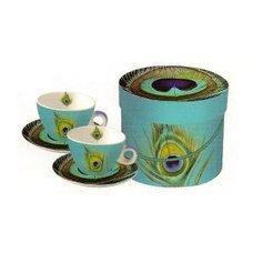 PaperProducts Design Paradise Peacock Cappuccino Cups