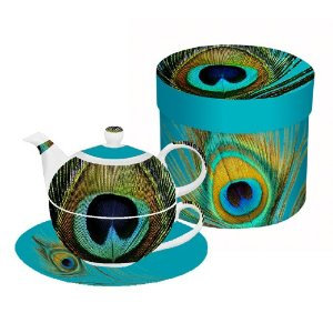Paperproducts Design Paradise Peacock Tea-for-One