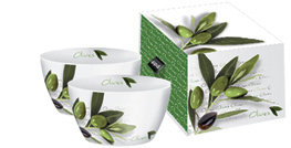 PaperProducts Design Olive Porcelain Bowls