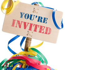 An invitation gets the party started...