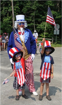Uncle Sam and helpers